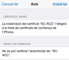 Instal·lar certificat arrel