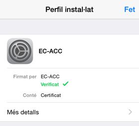 Perfil instal·lat