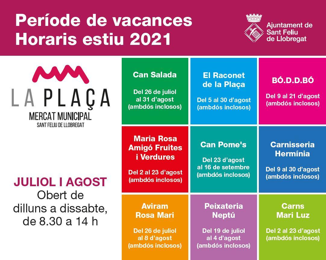 Vacances 2021 Mercat Municipal