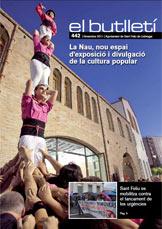 Imatge de la portada del butlletí número 442 del mes de novembre de 2011. Accedix a la informació d'aquest número fent clic.