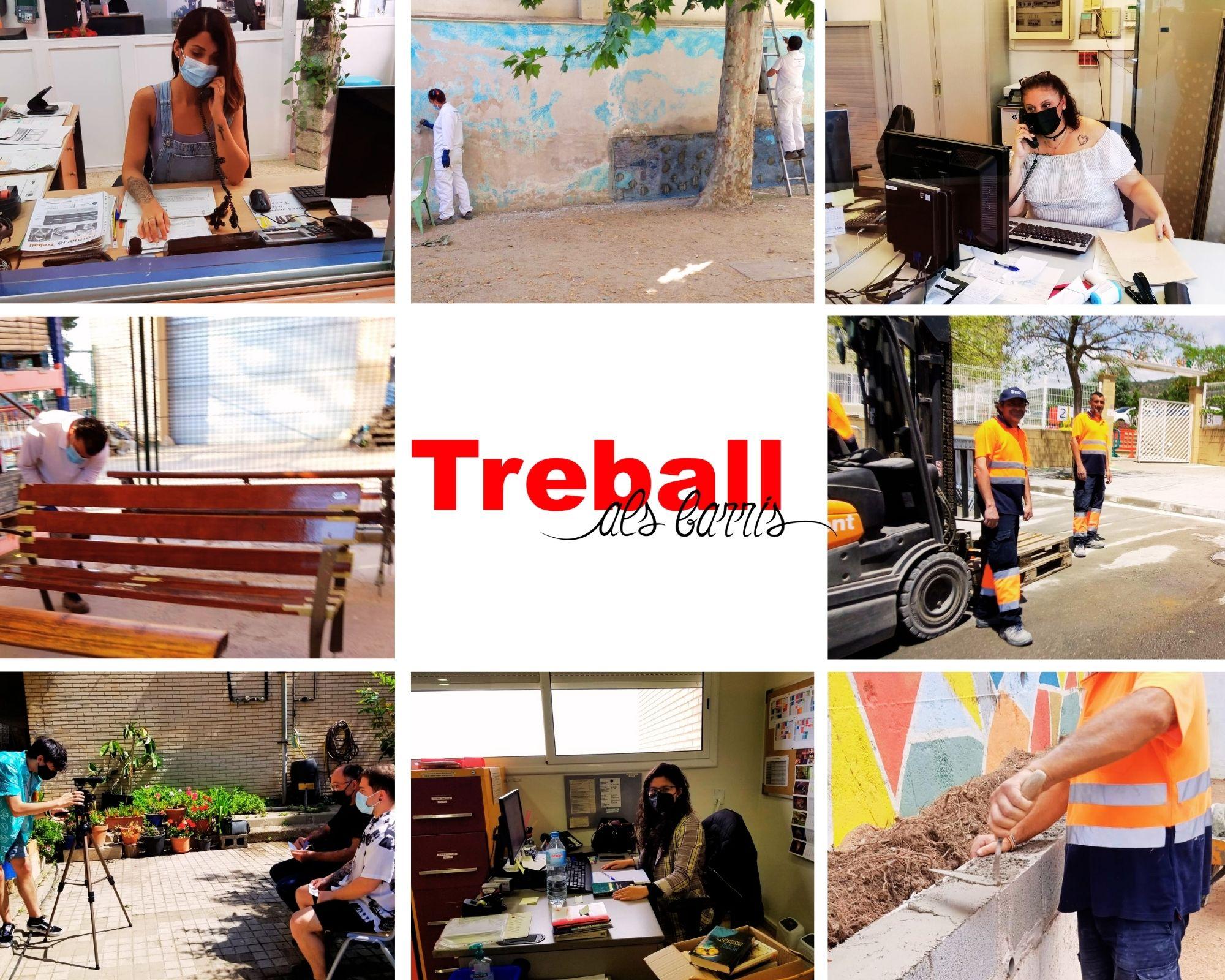 Imatge del personal de Plans d'Ocupació de Treball als Barris